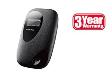 TP-Link M5350 Mobiler MIFI WLAN-Router (Mobiler WiFi Hotspot, integriertes 3G/UMTS-Modem mit bis zu 21,6 Mbit/s, Wireless-N-Standard (IEEE 802.11n), SIM-Kartensteckplatz, OLED-Display, microSD-Kartenslot, HSPA+ 3G) schwarz - 4