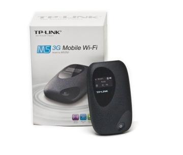 TP-Link M5350 Mobiler MIFI WLAN-Router (Mobiler WiFi Hotspot, integriertes 3G/UMTS-Modem mit bis zu 21,6 Mbit/s, Wireless-N-Standard (IEEE 802.11n), SIM-Kartensteckplatz, OLED-Display, microSD-Kartenslot, HSPA+ 3G) schwarz - 6