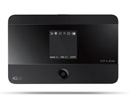 TP-Link M7350 mobiler 4G/LTE MiFi Dualband-WLAN-Router (LTE Cat.4 150Mbit/s, 2550mAh interner Akku, OLED-Display, SIM-Kartensteckplatz, microSD-Kartenslot) - 1