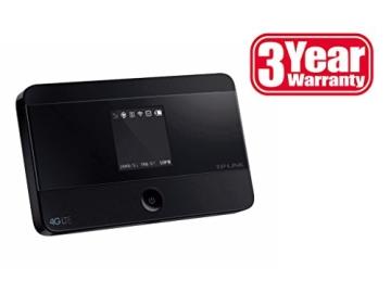 TP-Link M7350 mobiler 4G/LTE MiFi Dualband-WLAN-Router (LTE Cat.4 150Mbit/s, 2550mAh interner Akku, OLED-Display, SIM-Kartensteckplatz, microSD-Kartenslot) - 3