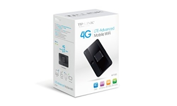 TP-Link M7350 mobiler 4G/LTE MiFi Dualband-WLAN-Router (LTE Cat.4 150Mbit/s, 2550mAh interner Akku, OLED-Display, SIM-Kartensteckplatz, microSD-Kartenslot) - 4